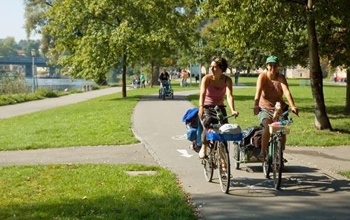 Поездки на велосипеде почти вдвое снижают уровень стресса